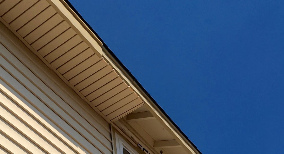 We cap fascias and eaves the way a crown caps a rotten tooth.